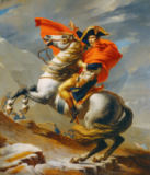 Jacques-Louis David - Bonaparte crossing the Alps; Great St.Bernhard, 20th of May, 1800
