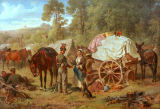 Eugen Adam - Camp for Austrian Uhlans in the summer of 1859 near Verona