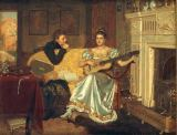 Edmund Blair Leighton - Say, What shall be the Burden of my Song?