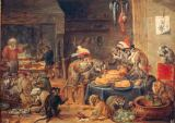 David Teniers - The Banquet of the Monkeys
