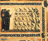 Franziskusmeister - Saints Francis of Assisi preaches to the birds