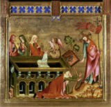 14. Jahrhundert - The Three Maries at the Tomb and Christ appearing to Mary Magdalene (Noli me tangere)