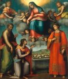 Andrea Piccinelli - Belt offering of Madonna with three Saints