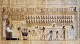 Ägyptische Malerei - Other World / Death Book / Egypt.Papyrus