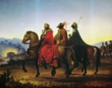 Leopold Kupelwieser - The Three Kings riding to Bethlehem