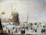 Hendrick Avercamp - A Winter's Landscape with Skaters