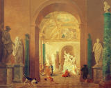 Hubert Robert - The Laocoon Hall of the Louvre