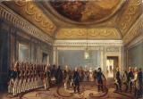 Gustav Schwarz - Paul I and the guard lined up for Maria Feodorovna