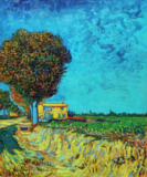 Vincent van Gogh - Avenue near Arles with houses