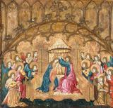 15. Jahrhundert - The Coronation of the Virgin with Angels making Music