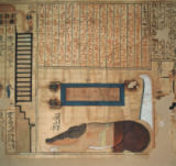 Ägyptische Malerei - Book of the Dead of Nebqed/Egypt.papyrus
