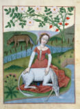 Buchmalerei französisch - Virgin and Unicorn / from Platearius