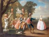 Peter Jacob Horemans - Elegant Figures Making Music and Dancing in the Grounds of a Palace