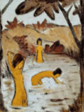 Otto Mueller - Drei Badende im Teich - Three bathers in