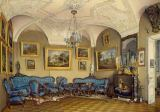 Eduard Petrowitsch Hau - Gatchina Castle / Parlour / Watercolour