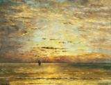Hendrik Willem Mesdag - A Seascape at Sunset