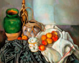 Paul Cézanne - Stilllife with ginger pot, sugar jar and apples