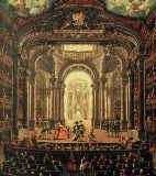 Pietro Domenico Olivero - The interior of the royal opera house in Turin