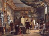 AKG Anonymous - The Artist's Studio-the Painter Sketching a Model in Historical Costume