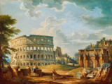 Giovanni Paolo Pannini - The Colosseum and Arch of Constantine