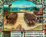 15. Jahrhundert - Battle of Agincourt / Book illumination