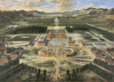 Pierre Patel - Perspective view of the Chateau, Gardens and Park of Versailles seen from the Avenue de Paris, 1668