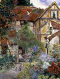 David Woodlock - A Cottage Garden, Mill Street, Warwick