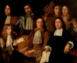 17. Jahrhundert - A Group of Musicians Playing a Viol de Gamba, Two Violins and a Clavichord