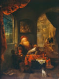 Gerrit or Gerard Dou - An Old Man in his Study