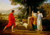 Louis Gauffier - Jacob meets the daughters of Laban
