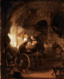Harmensz van Rijn Rembrandt - The young Tobias heals his blind father
