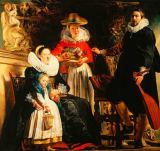 Jacob Jordaens - Jacob Jordaens and his family in a garde