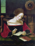 16. Jahrhundert - A young woman writing