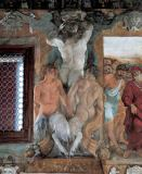 Lodovico Carracci - Satyrs with horns of plenty and Atlas