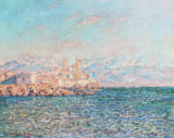 Claude Monet - The old harbour at Antibes,France. Canva