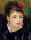 Pierre Auguste Renoir - Woman with Rose, possibly Marguerite Legrand, known as Margot