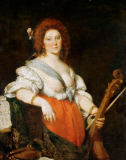 Bernardo Strozzi - Lady playing the viola da gamba