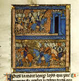 Buchmalerei - Battle of Fontenoy / Book illumination