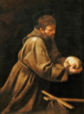 Michelangelo Merisi da Caravaggio - Saint Francis of Assisi in Meditation