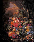 Jan Davidsz. de Heem - Stilllife with fruit, flowers, mushrooms, insects, snails and reptiles