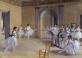 Edgar Degas - Ballet room in the opera in Rue Le Peletier