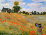 Claude Monet - Poppy field at Argenteuil / detail 1