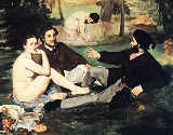 Edouard Manet - Lunch on the Grass / detail
