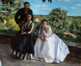 Jean Frederic Bazille - Family portrait / detail