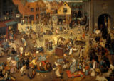 Pieter Brueghel der Ältere - Fight between Carnival and Lent