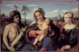 Palma Vecchio - Madonna and Child with the Saints John the Baptist and Mary Magdalene