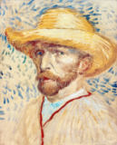 Vincent van Gogh - Self Portrait with Straw Hat, 1887