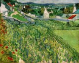 Vincent van Gogh - Vineyards with view of Auvers