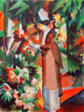 August Macke - Spaziergang in Blumen
