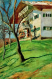 August Macke - Our little house in Tegernsee